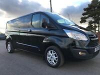2015 15 FORD TRANSIT CUSTOM 125 290 LIMITED 2.2 TDCI L2 IN PANTHER BLACK MET 72T