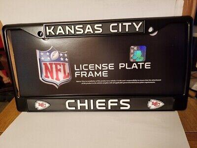 NFL Kansas City Chiefs Black Chrome License Plate Frame 1 Kansas City Chiefs Framed
