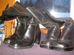 Ladies Leather winter boots for sale - $5 each pair sz 8 and 9