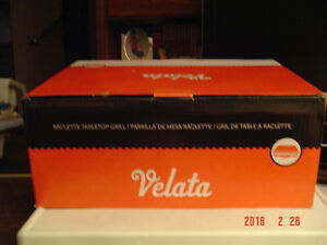 BRAND NEW VELATA 8 PERSON RACLETTE & GRANITE STONE PARTY GRILL Windsor Region Ontario image 9