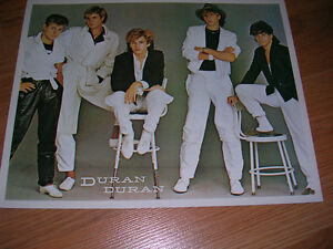 """1980's 8x10 picture of """"Duran Duran"""" sold in record stores-80's"""