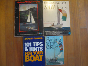 Four Books about learning to sail and managing your boat.