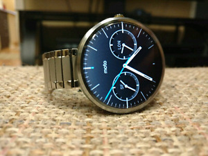 Moto 360 touch screen smart watch $80