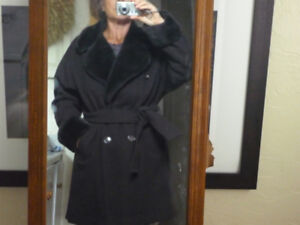 $50.00 Winter Coat Wool!  Beautiful and Warm For M or Lg Female