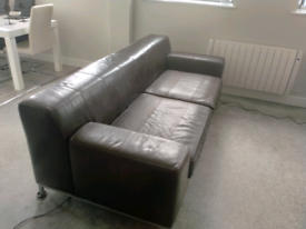 IKEA Leather Sofa 3 seater