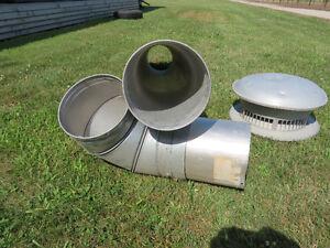 "Insulated  8""  furnace stacks  /  chimneys"