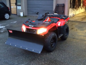 ATV with snow blade for sale
