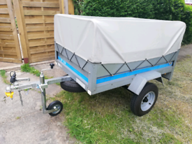 Erde SY150 trailer 5x3 with high frame and cover