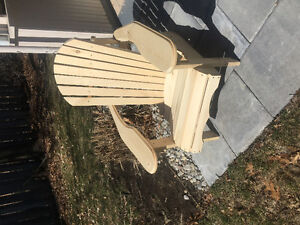 Hand-crafted muskoka chairs