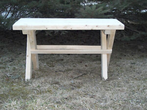 Hockey/campfire benches
