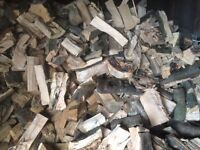Seasoned barn stored hardwood firewood logs Free local Delivery