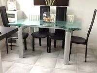 Kitchen dining room table and four chairs