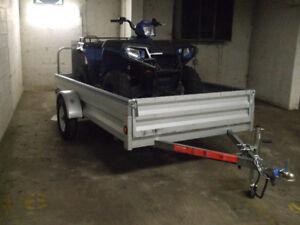 2018 stirling 5x10 galvanized trailer--$1500--like new