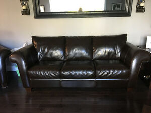 Italsofa leather couch and chair