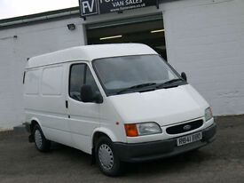 97 FORD TRANSIT 2.5 80 SWB SEMI HIGH SMILEY FRONT FACE PANEL VAN LOW MILES 1OWNE