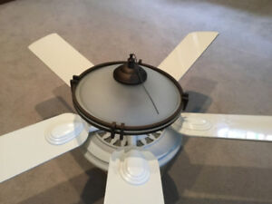 54 inch white ceiling fan with lights