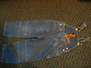 Boys size 4 Scooby-Doo Jean Overalls