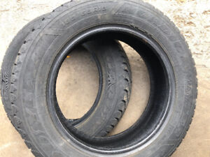 2 winter tires 185/65/15 Goodyear Nordic Winter