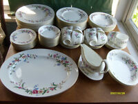 Antique12 piece place setting, bone china