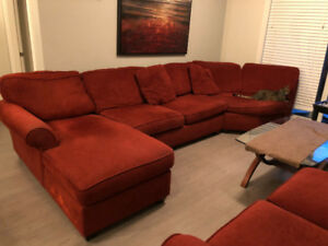 Red 4-piece couch set for sale $300 o.b.o.