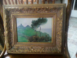 Wood framed painting
