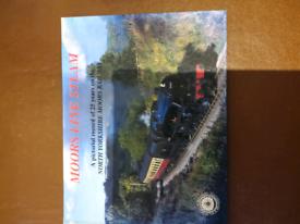 Book, moors line steam trains.