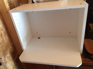 Like new, microwave shelf, fully assembled, wall mountable