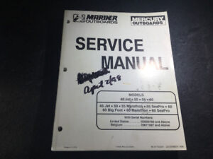 Mercury Mariner 45 50 55 60 Manual Marathon Seapro Bigfoot 3 cyl
