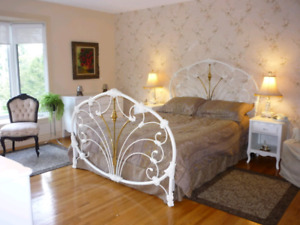 SOLD PPU - Elliott's Design Wrought Iron Queen Size Bed Frame