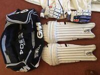 Job lot of cricket gear