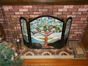Stained Glass Fire Place Screen