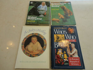 Set Of 4 Books- Show Dogs + Who's Who Bible +Baby's Blessing