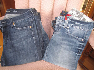 Lots of Guess and Seven Brand Jeans