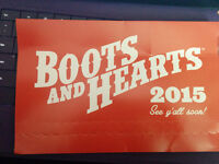 Two Boots and Hearts 2 Tickets $200 each General Admission