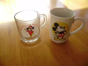 VINTAGE MICKEY MOUSE GLASS AND MUGS Windsor Region Ontario image 3