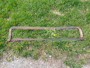 ANTIQUE LARGE HEAVY HAND HELD MEAT SAW