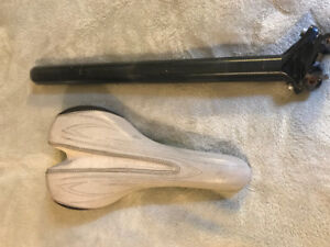 Mtn Bike Seat, with Post, Good Condition
