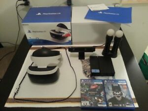 (MINT) PLAYSTATION PS4 VR COMPLETE BUNDLE W GAMES & ALL IN BOX