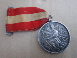 ANTIQUE STERLING FIREMANS MEDAL SHAND MASON 1918 FIREFIGHTING