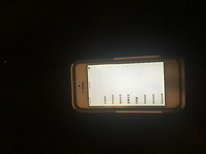 iPhone 5 silver (broken power button and down volume button)