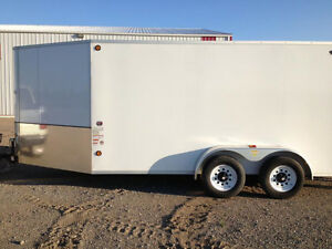 BLOW OUT - 2015 7X14 CJay Cargo Trailer (White) - 3311