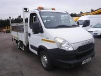 IVECO DAILY 35S13 DROPSIDE TRUCK WITH TAIL LIFT White Manual Diesel, 2012