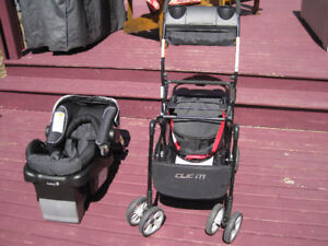 Safety 1st Infant Car Seat and Safety 1st Clic It  Stroller