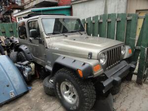 Jeep TJ 2004 6cyl  4li  5vit  aucune rouille va super bien $6250
