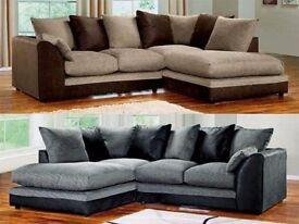 【Brand New】 Byron Jumbo Cord Corner Sofa/ 3+2 sofa Suite - SAME/NEXT DAY DELIVERY