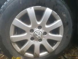 vw golf alloy wheel Set 15inch VERY GOOD CONDITION
