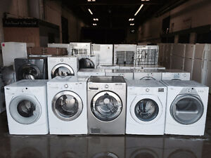 ASSORTED STOCK FRONT LOAD WASHING MACHINES STARTING AT $300