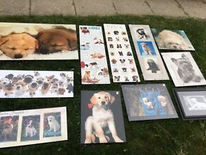 Dog puppy mounted posters art
