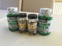 Extreme Labs T9 Black Fury 60 Caps,Applied Nutrition CLA, L-Carnitine and Green Tea x 100 Softgels