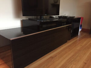 2-Piece TV stand - Black & Silver - Reduced $$